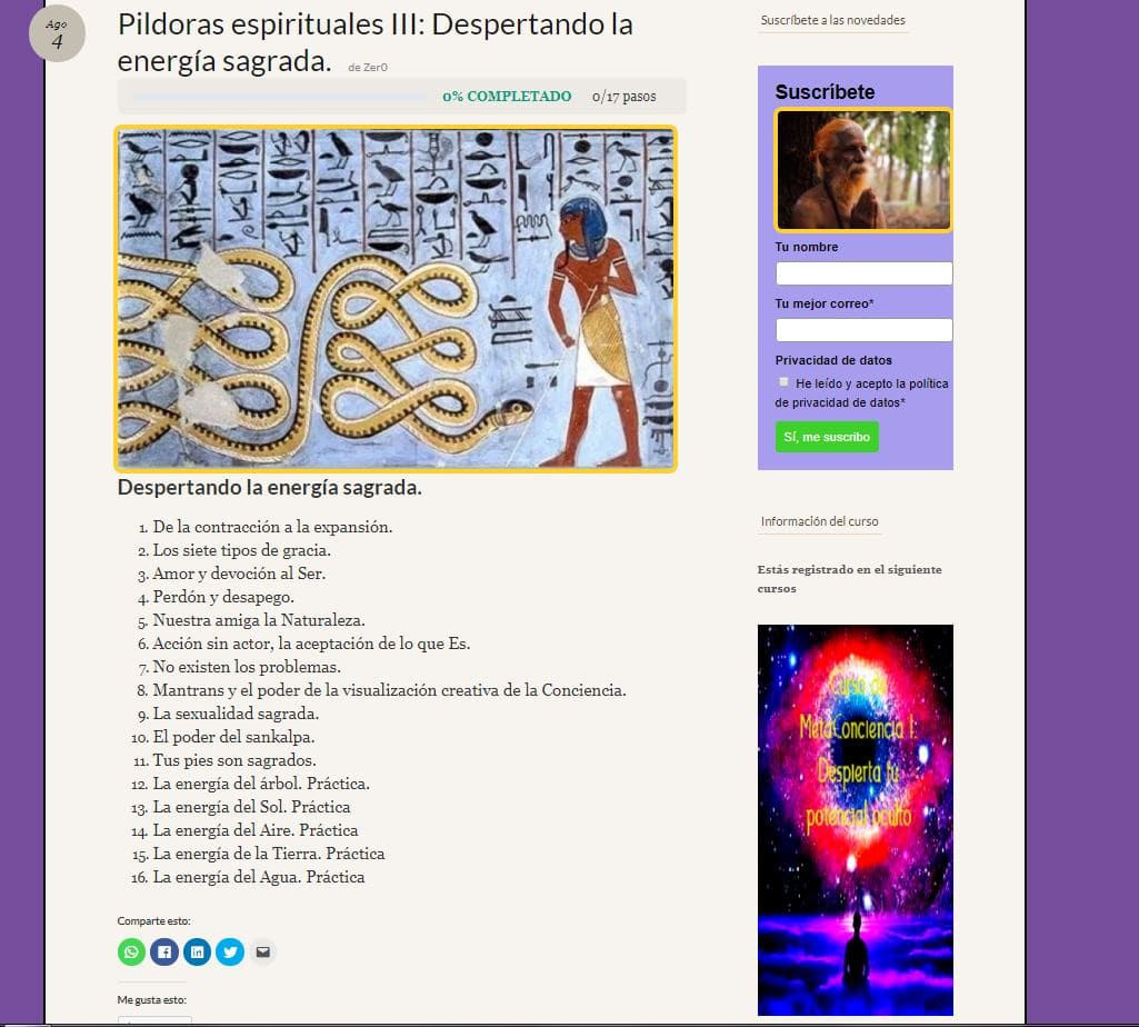Pildoras espirituales III, despertando la energía sagrada